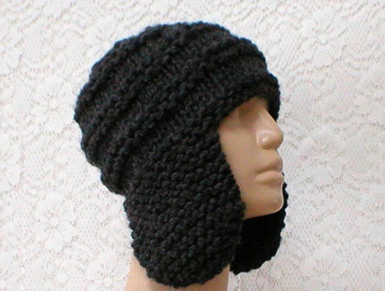6f65fb07d26 Charcoal gray ear flap hat trapper cap mens womens winter hat