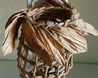 Garlic Storage Baskets  - Leafy Version