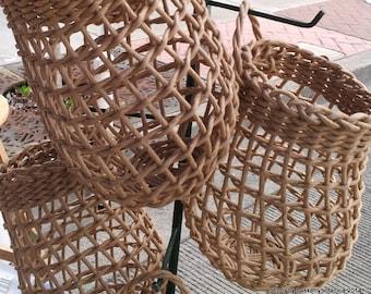 Medium Onion Basket in Brown Rush