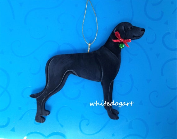 Uncropped Black Great Dane Christmas Ornament, Handpainted - Uncropped Black Great Dane Christmas Ornament Handpainted Etsy