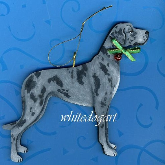 image 0 - Custom Uncropped Blue Merle Great Dane Christmas Ornament Etsy