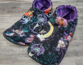 Pinup Witches : Handmade Soft Sole Shoes Cotton Knit Fabric Non-Slip Adult Slippers