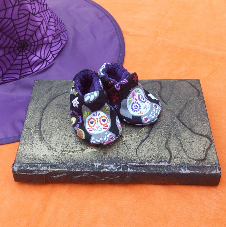 Sugar Skull Animals: Soft Sole Baby Shoes 0-3M image 0