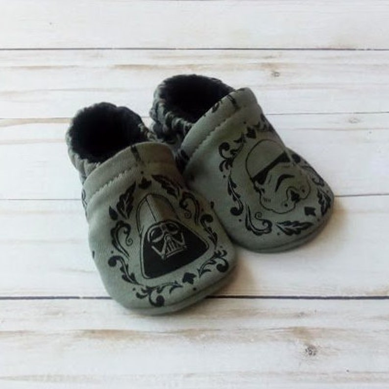 Star Wars: Handmade Soft Sole Shoes Cotton Knit Fabric image 0