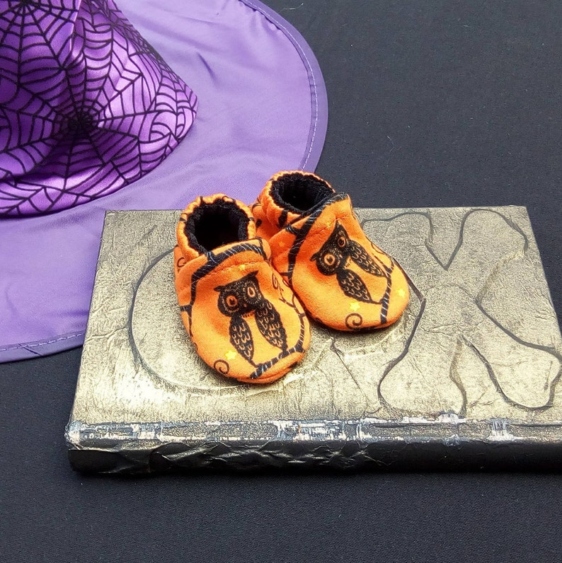 Owls: Soft Sole Baby Shoes 0-3M image 0