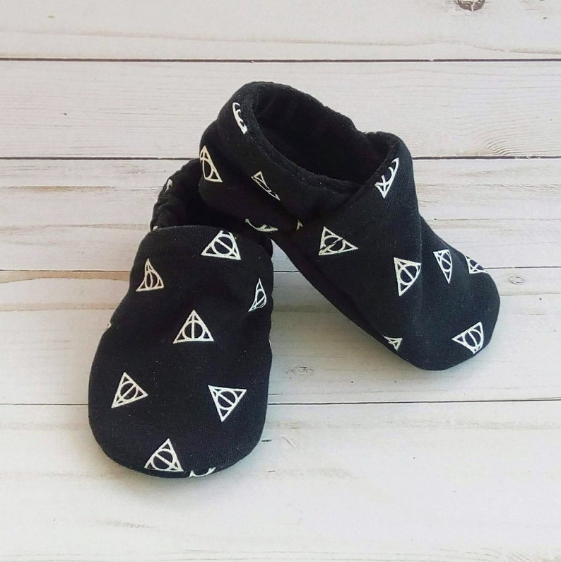 Harry Potter Deathly Hallows: Handmade Soft Sole Shoes Cotton image 0