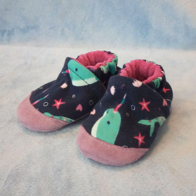 Narwhals: Soft Sole Baby Shoes 6-12M image 0