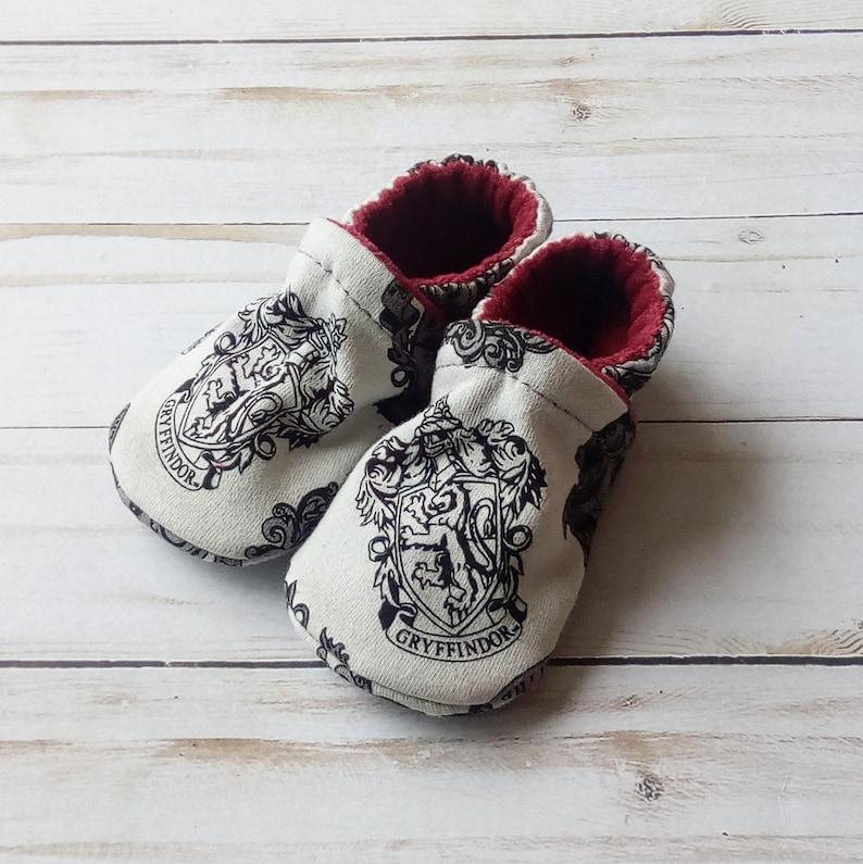Harry Potter House Crest: Handmade Soft Sole Shoes Cotton Knit image 0