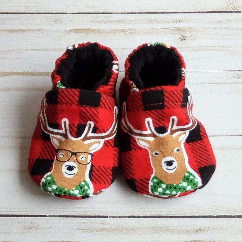 Buffalo Plaid Deer: Custom Handmade Baby Toddler Kid Adult image 0