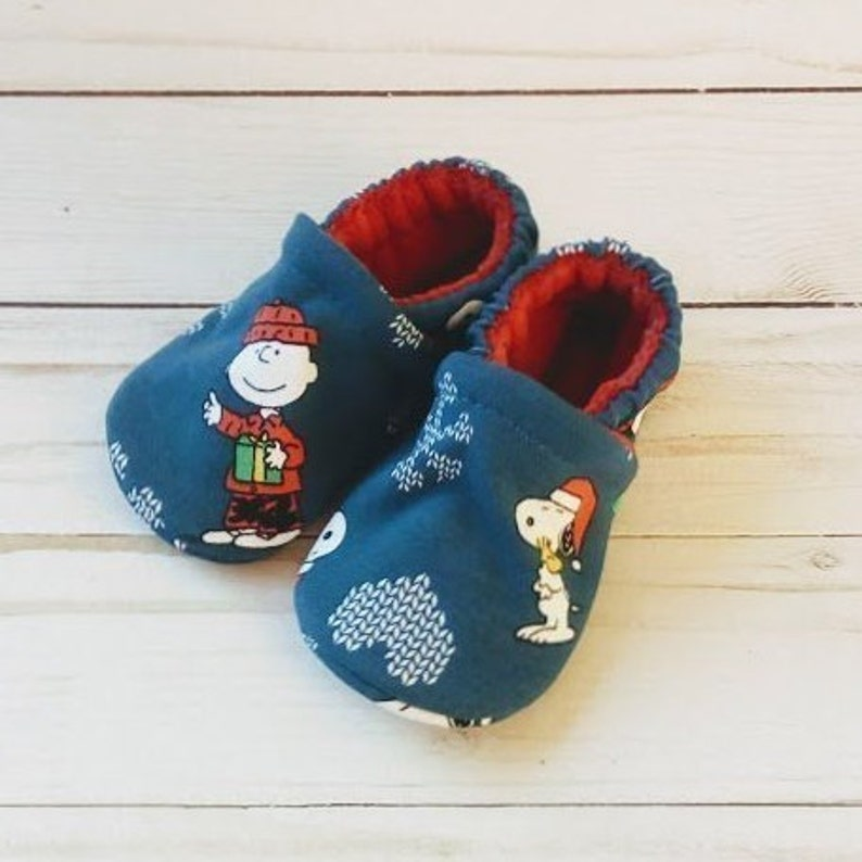 Peanuts Charlie Brown: Custom Handmade Baby Toddler Kid Shoes image 0