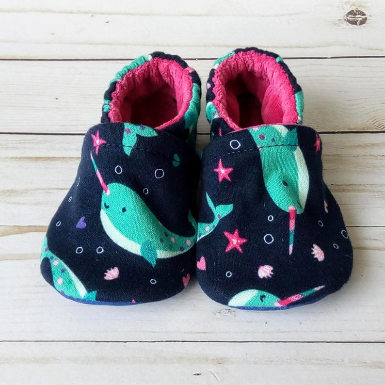 Custom Narwhals: Handmade Baby Toddler Kid Adult Shoes image 0