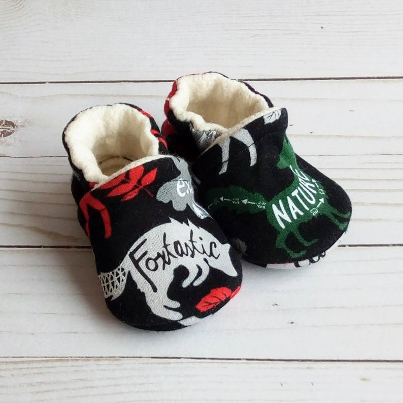 Woodland Animals: Custom Handmade Baby Toddler Kid Adult Shoes image 0