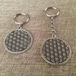Flower of Life Keychain - Flower of Life Key Chain -  Flower of Life Key Ring - Yoga Keychain - Bohemian Keychain / Sacred Geometry Keychain