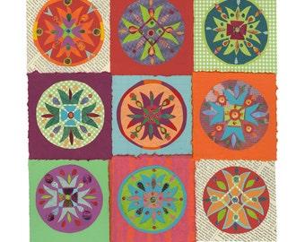 Gratitude Paper Quilt, giclee print