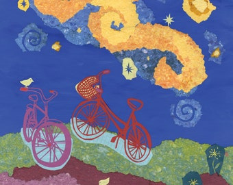 Together on the Journey, Starry Starry Ride, giclee print