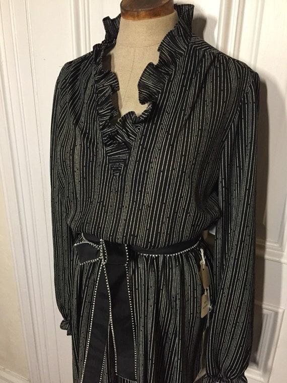 Vintage 1980s deadstock ruffle dress