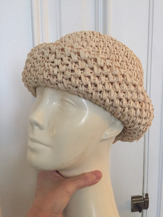 Vintage 1960s woven straw hat
