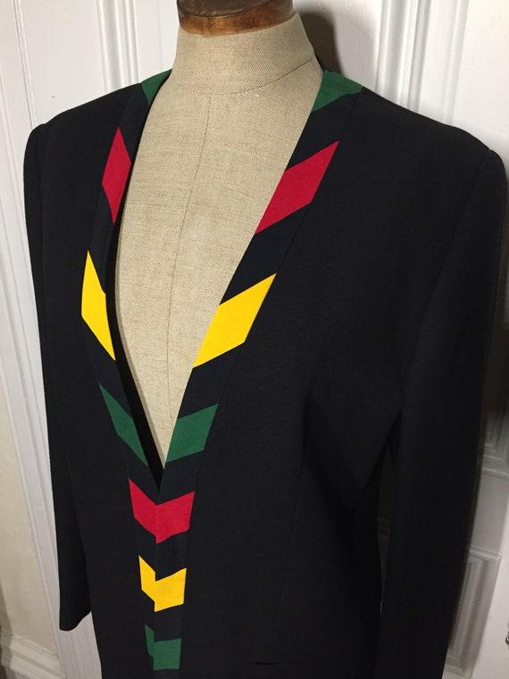 Vintage 1980s designer Mondi power blazer