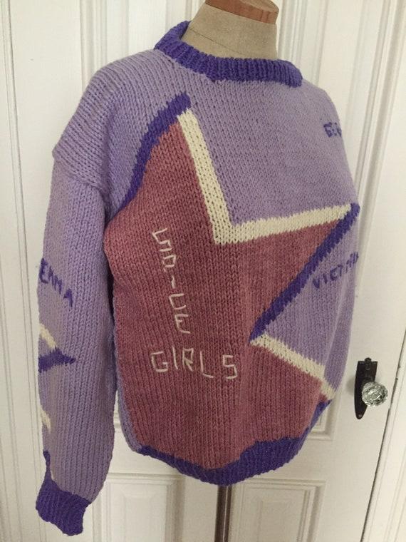 Vintage handmade knit spice girls sweater