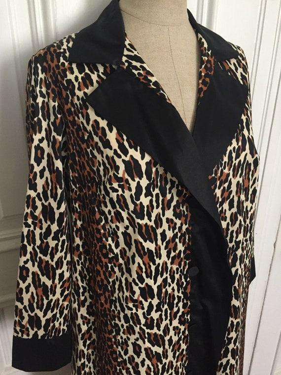 Vintage 1960s vanity fair leopard house coat jacke