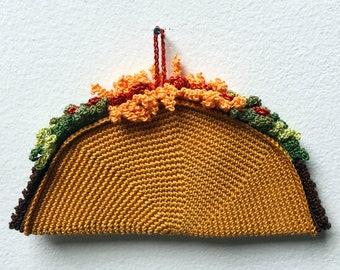Taco Ornament Crochet Pattern