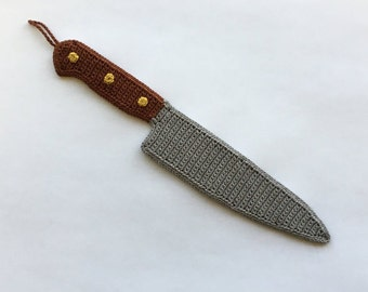 Crocheted Chef Knife Applique/Ornament Pattern (Pattern Only)