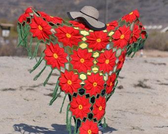 Holiday Crochet eBook - Poinsettia Proliferation! by Regina Rioux of Monster Crochet