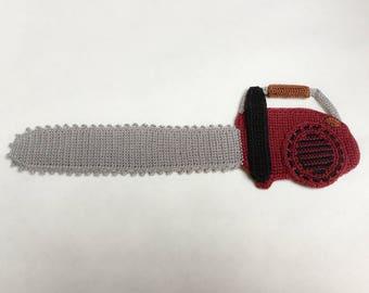 Dangerous Implements Chainsaw Ornament Crochet Pattern