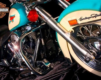 Harley Davidson Original Print by Scott M. Rhodes Awesome Gift for Harley Owners