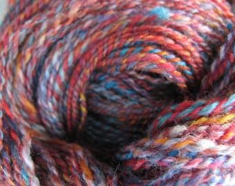 Fire and Ice - hand dyed, handspun yarn