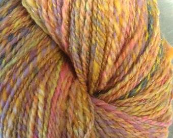 Tangerine Dream - handspun yarn 4.3 oz / 265 yds