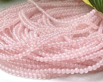 4mm Rose Quartz Beads, AA Grade Rose Quartz, Round Gemstone Beads, Pale Pink Beads, Love & Friendship, One Strand=Approx 100 beads