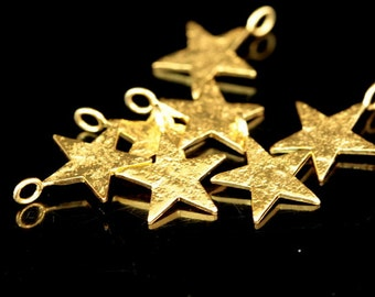 925 Karen Hill Tribe 24k Gold Vermeil Style 4 Crescent Moon Charms.