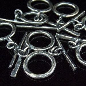 KV-045 thai karen hill tribe handemade silver white 6 hammered round disc bead