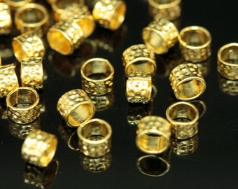 KG-336 thai karen hill tribes silver 20 gold vermeil stardust texture bead
