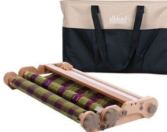 """ASHFORD 20"""" KNITTERS LOOM and bag. Folding rigid heddle travel loom with double heddle capability"""