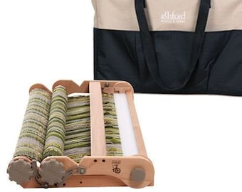 """ASHFORD 28"""" KNITTERS LOOM and bag. Folding rigid heddle travel loom with double heddle capability"""
