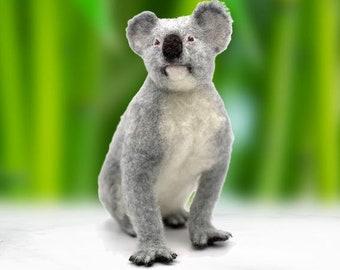 Koko the Koala needle felting kit - Large model with detailed photo tutorial