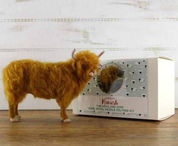 Hamish le Highland Vache aiguille feutrage Kit