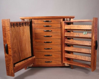 jewelry cabinet mechanism description and photos (Plan only, via PDF download, no physical product)
