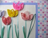Spring Tulip Quilled Card