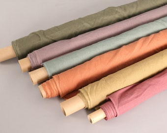 Hand Dyed Organic Linen Fabric Sold by the Half Yard Many Yards Available Continuous Cuts