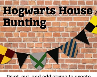Printable Wizard House Bunting Decoration