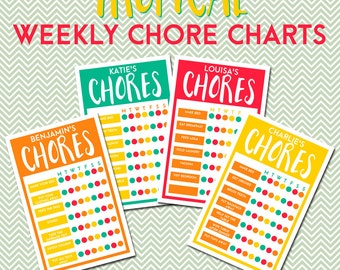Tropical Weekly Chore Charts - Editable PDF
