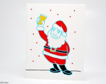 Craft Beer Christmas Card, set of 50, Santa wants craft beer this year