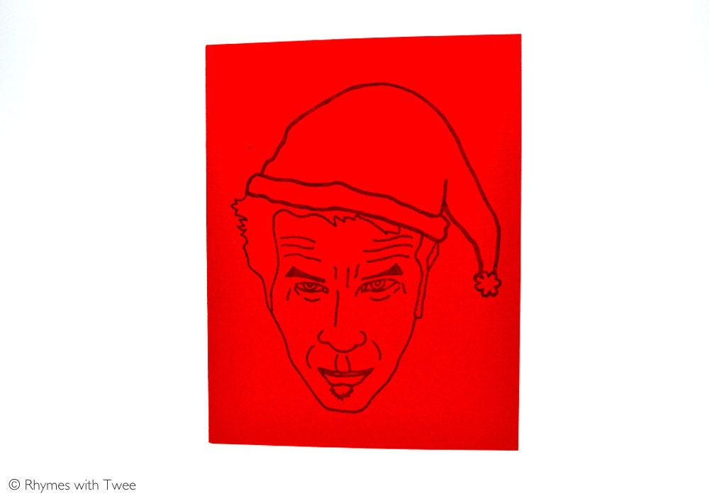 Tom Waits Christmas Card single music holiday card
