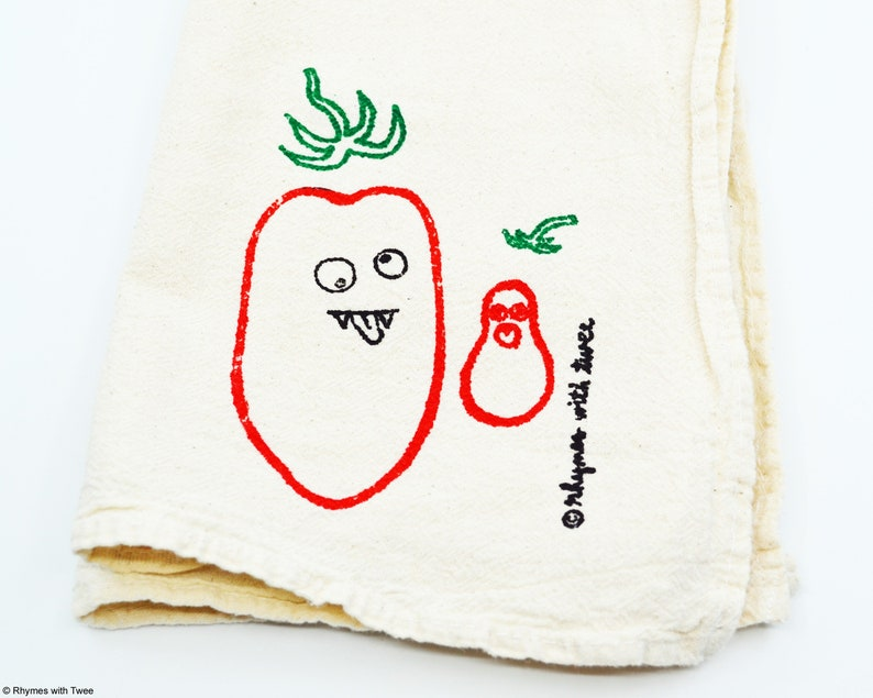 San Marzano Tomato Kitchen Towel ISSA  MOLLY TOMATO Fanged image 0