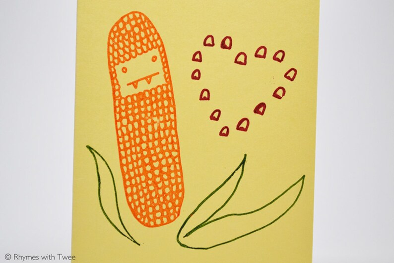 Elotes Double Pun Love Card foodie valentine or anniversary image 0