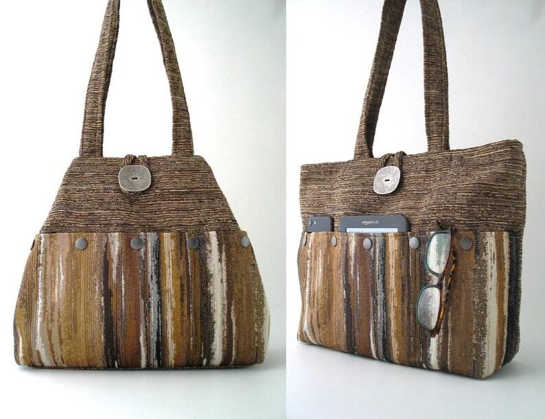 Brown hobo bag shoulder bag purse sister birthday gift image 0