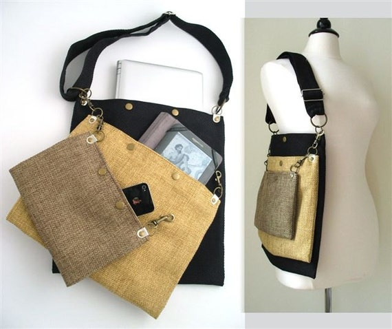 Crossbody Purse Laptop Messenger Bag Tote Bag Cross Body Etsy